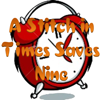 Stock Photo - A stitch in time saves nine Clock Needle Proverb