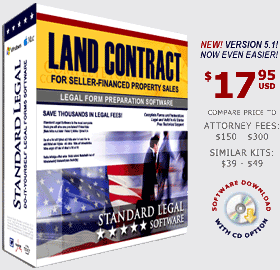 Sure, you can get your land contract out of a box, and save a few bucks. Just ask Mr. Jackson how that's likely to work out for you ...