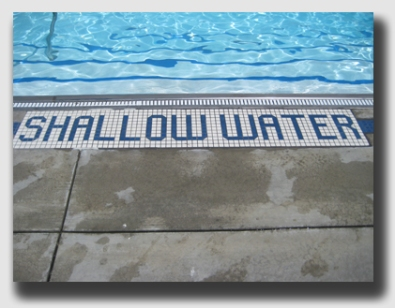 Not all shallow water is so well labeled ...