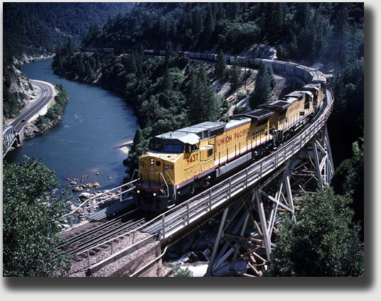 Union Pacific on span northeast of Storrie.