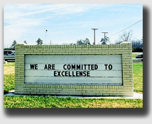Like these folks, Ms. Chambliss was committed to excellense ... but in property lines, not spelling ...