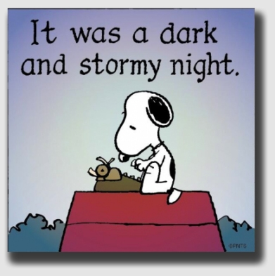 Snoopy made the opening line of Paul Clifford one of the most famous in the history of pedestrian writing.