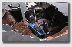 Kentucky, of course, is famous for unexpected holes, like the one that swallowed eight vintage Corvettes at a Bowling Green museum earlier this year.