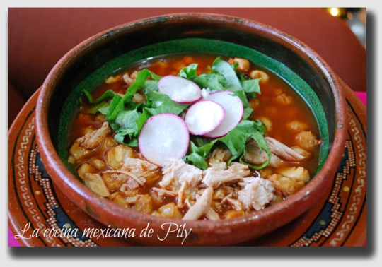 Pozole - the national dish of Mexico.