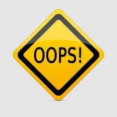OOPS sign with clipping path