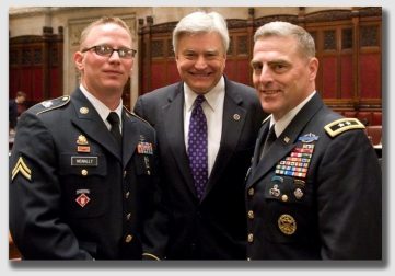 The man on the right is a corporal ... and a combat vet with a Purple Heart.  The man on the right, a major general, is not a corporal.  The guy in the middle is just a politician.  But none of them is an incorporeal hereditament.