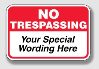 """Eisfeld should have gotten this sign with special wording, """"And don't cut down my trees, Martin!"""""""