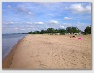 Nickel Plate Beach on a warm but windy Memorial Day.