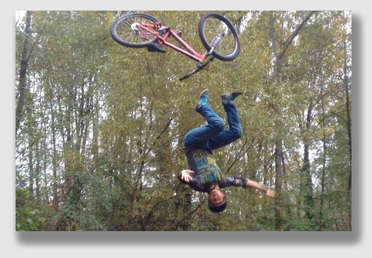 Mountain biking, as Mr. Quackenbush learned, can be challenging.