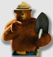 Smokey Bear says,