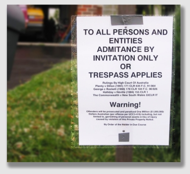 CUDA could have erected a sign that warned against trespassing and spouted a lot of legal nonsense, like this one ...