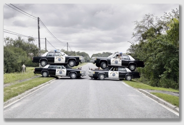 The county's lawyers set up roadblocks that would put the cops to shame ...