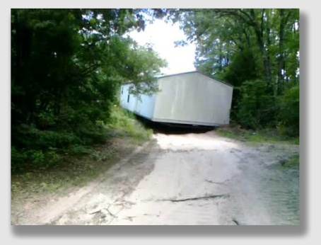 The Coales didn't leave the Scotts much space to haul in their mobile home.