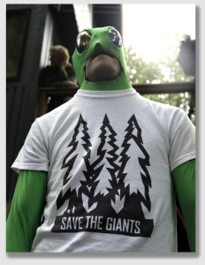 """One protester who is against letting trees """"croak"""" prematurely ..."""