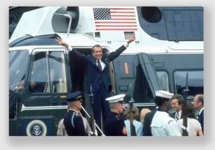 President Nixon reminds us with his gesture that due process has two (count 'em, two) components - notice and an opportunity to be heard.