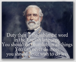 Gen. Robert E. Lee knew something about duty ... and even he couldn't have found that NYSEG owed one to Mr. Brothers.